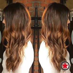 Warm brunette hair colour by Kristina