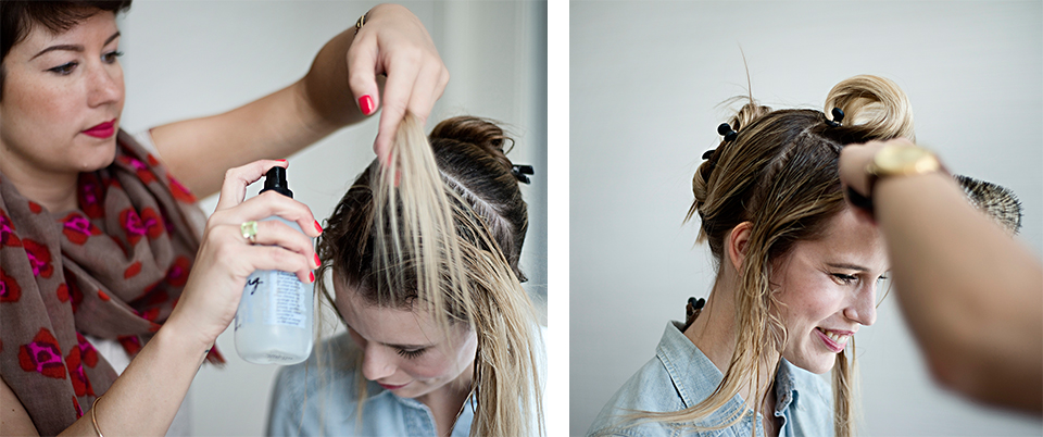 This Fall, updos are going to be the staple, such as this easy, breezy, romantic style.