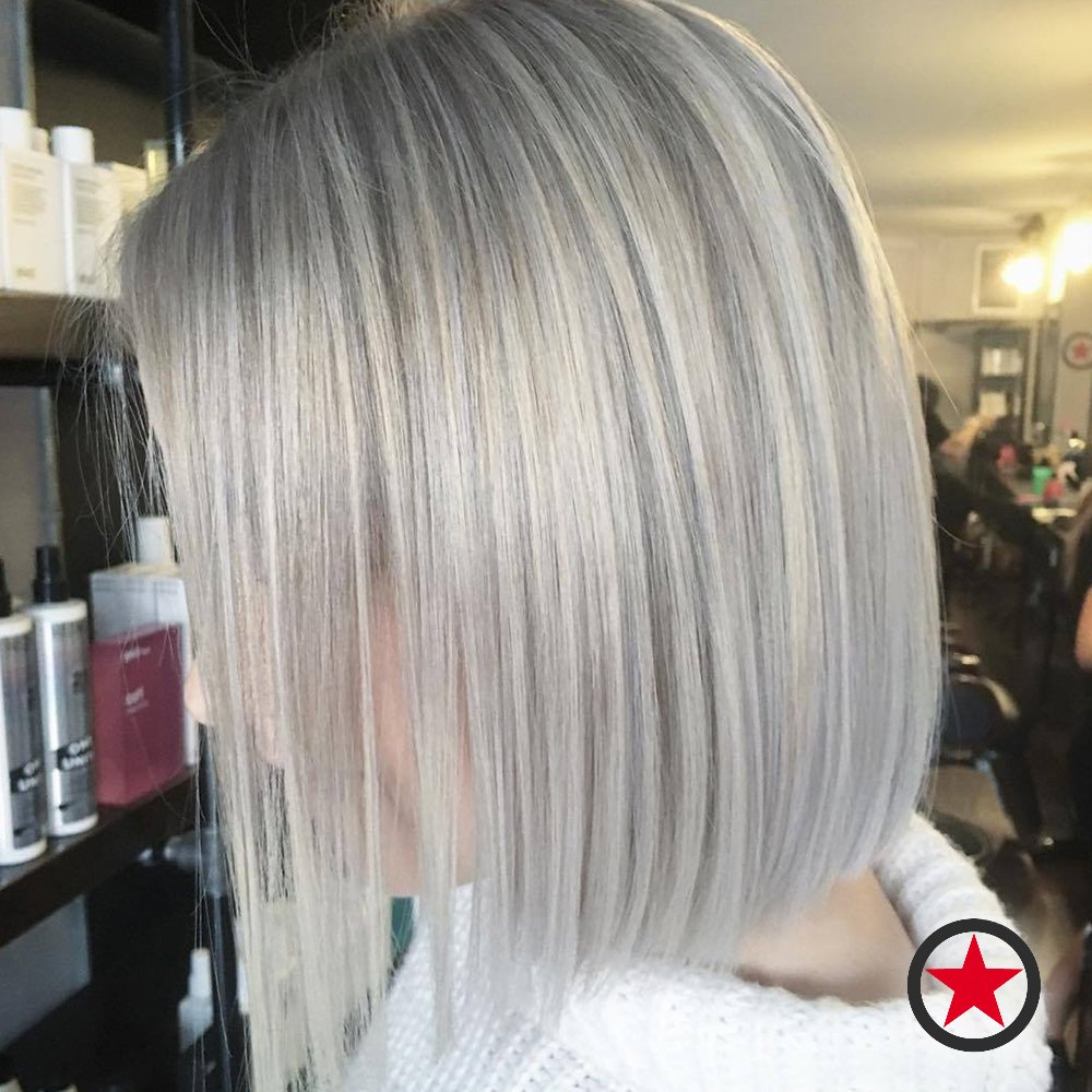Kelowna Hair Salon | Plan B | Blonde bob haircut by Jenna