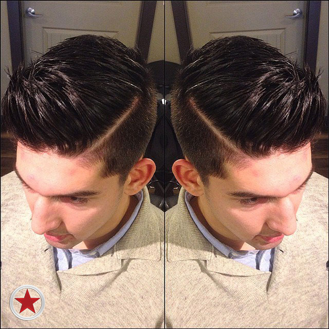 Plan B Kelowna Hair Salon Men's fade haircut by Courtney S