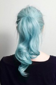 Plan B Kelowna Hair Salon pastel blue hair color