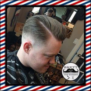 Kelowna Hair Salon Plan B - Mens side part pompadour
