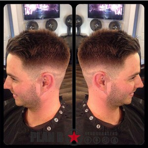 Mens fade haircut by Kristina at Plan B Kelowna Hair Salon