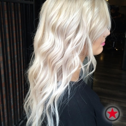 Icy blonde by Jenna at Kelowna Hair Salon Plan B