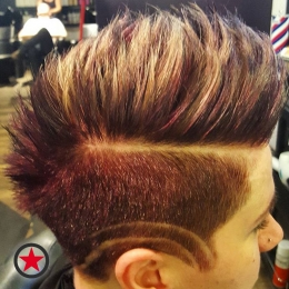 Badass mohawk by Chelsey at Kelowna Hair Salon Plan B