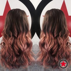 Rosegold balayage by Brigette at Kelowna Hair Salon Plan B