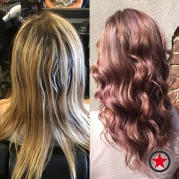 Gorgeous pastel highlights and style by Jess at Kelowna Hair Salon Plan B