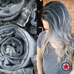 Plan B Kelowna hair salon | Denim Hair colour trend