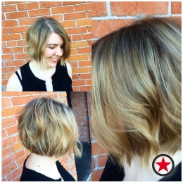 Short bob haircut by Jess at Kelowna Hair Salon Plan B