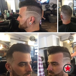 Mens cut and fade by James at Kelowna Hair Salon & Barbershop Plan B