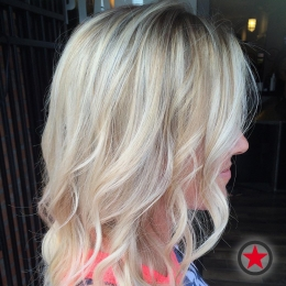 Dimensional blonde by Jenna at Kelowna Hair Salon Plan B
