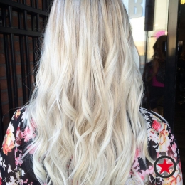 Icy blonde balayage by Jenna at Kelowna Hair Salon Plan B