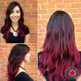 Wicked violet ombre by Jess at Kelowna Hair Salon Plan B