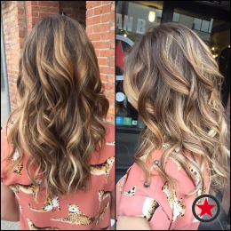 Plan B Kelowna hair salon | golden balayage highlights by Terri