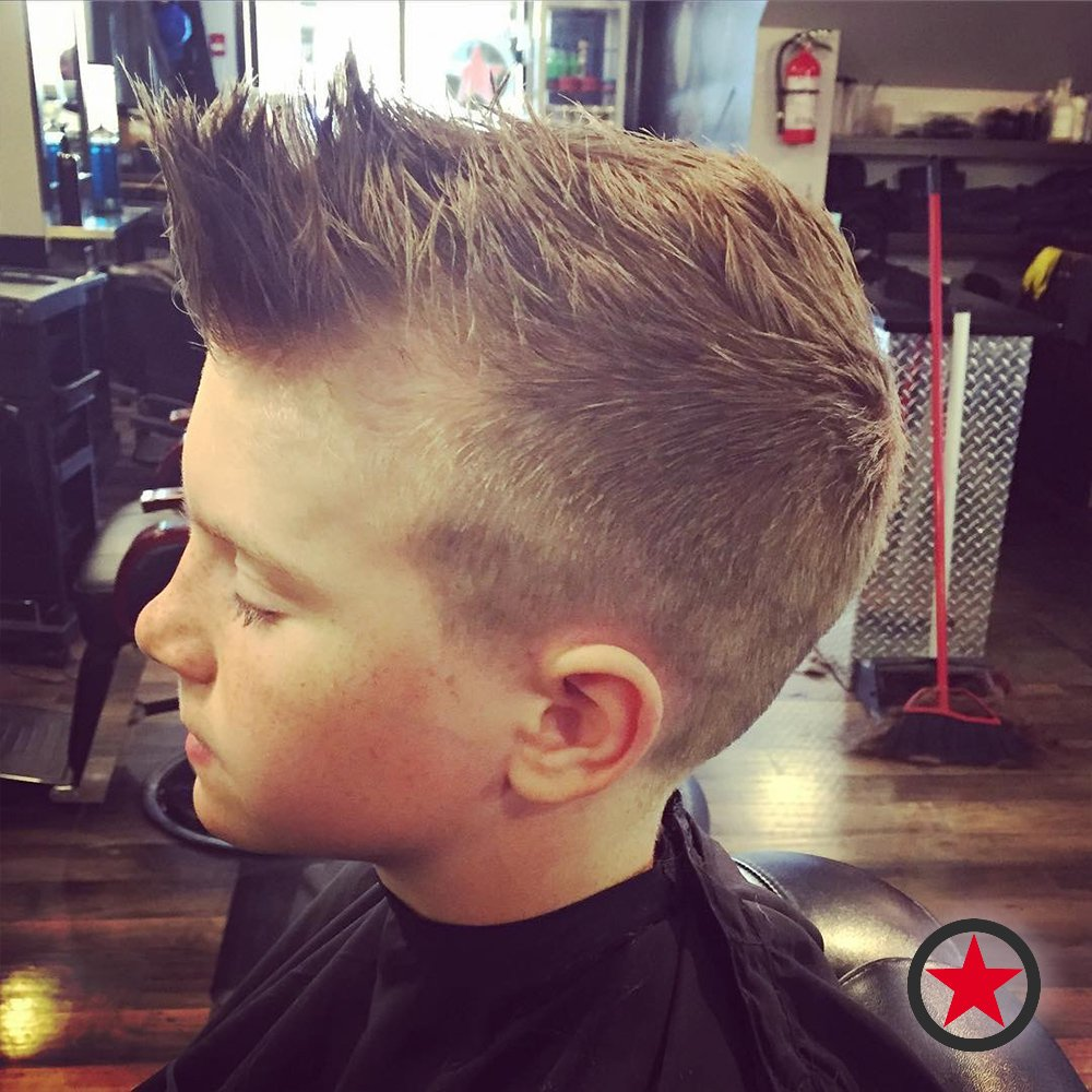 Plan B Kelowna hair salon | kids mohawk haircut by Terri