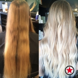 Plan B Kelowna Hair Salon | Long blonde hair transformation by Jenna