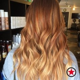 Plan B Kelowna Hair Salon | Pumpkin Spice inspired hair colour by Jenna