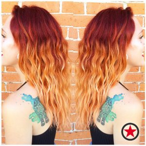 Plan B Kelowna Hair Salon | Red ombre hair colour by Jess