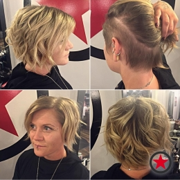 Plan B Kelowna hair salon | Short ladies hair cut by Courtney M