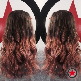 Plan B Kelowna Hair Salon | Rose gold ombre by Brigette