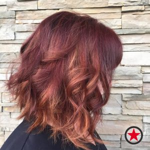 Plan B Kelowna Hair Salon | Burgundy hair colour with highlights by Cara