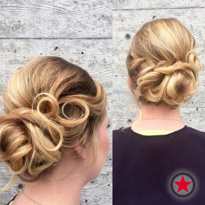 Plan B Kelowna Hair Salon | Updo hairstyle by Cara