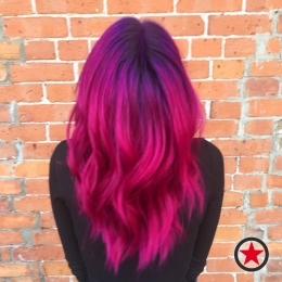 Plan B Kelowna Hair Salon | Vibrant fushia hair colour by Jess