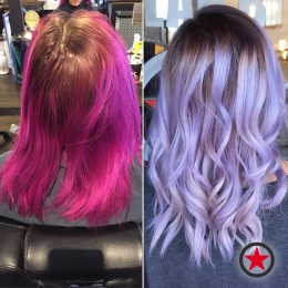 Plan B Kelowna Hair Salon | Pastel purple hair colour by Courtney