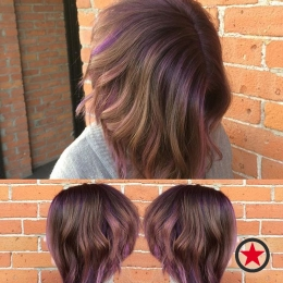 Plan B Kelowna Hair Salon | Subtle Purple Balayage by Jess