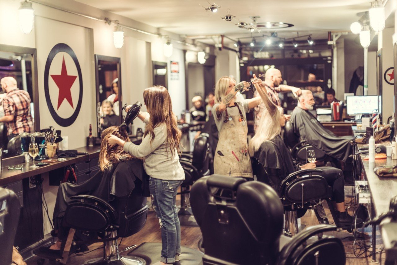 Hair stylists giving cuts and hair colour at Kelowna Hair Salon Plan B Headquarters
